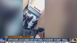 Officers accused of slapping student viral video start trial - Video