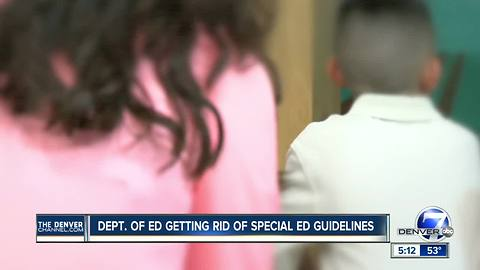 Department of Education rescinding special education guidelines