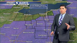 Winter Weather Advisory issued for parts of Northeast, Central Ohio
