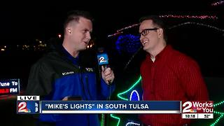 Mike's Lights: South Tulsa Christmas lights display - Video