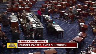 House passes bill to reopen government after second government shutdown in 2018 - Video