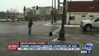 Crimes against Denver homeless up 42% - Video