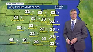 Temps rise back into the 20s on Tuesday