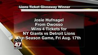 Lions Ticket Winner