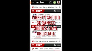 LIBERTY SHOULD BE RANKED HIGHER THAN OHIO STATE