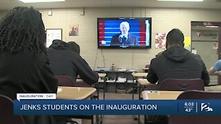 Jenks High School students react to the inauguration
