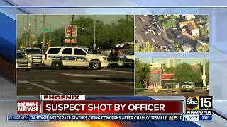 Suspect shot by police near 26th St/Roosevelt in Phoenix