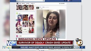 Mother of girl badly injured in crash gives update on her condition - Video