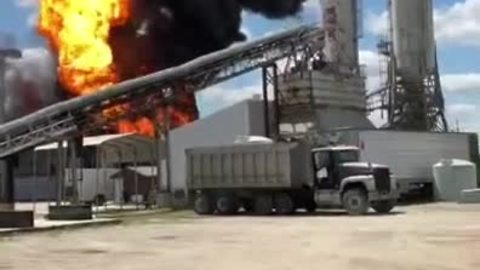 Eye witness video of explosion at Akron chemical plant