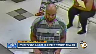 Police searching for murdered woman's remains - Video