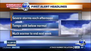 Another couple of stormy days ahead - Video