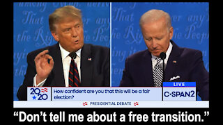 Trump Lays into Biden when Asked about a Transition of Power