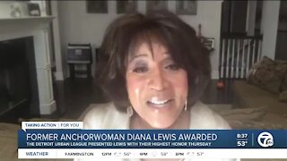 Former WXYZ anchor Diana Lewis honored as a Distinguished Warrior