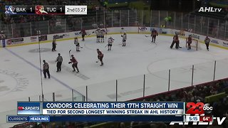 Condors back home after 17th straight win