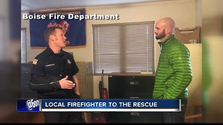 Boise Firefighter and local family have a unique connection after he comes to their rescue