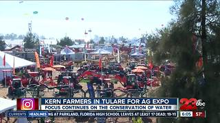 Kern farmers talk Ag Expo, water conservation - Video