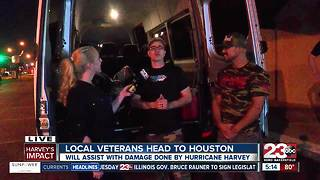 Local veterans heading to Houston to help with Hurricane Harvey victims - Video