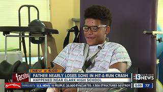 Brothers injured in hit-and-run walking home from Clark High School - Video