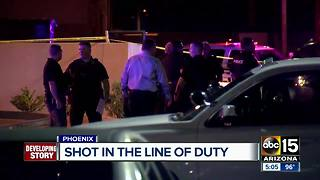 Phoenix officer recovering after Wednesday night shooting - Video