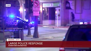 Large police response in downtown Wauwatosa Thursday evening
