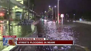 Streets flooding in Miami ahead of Hurricane Irma making landfall - Video