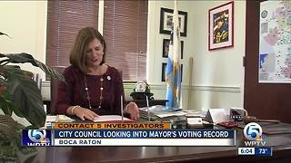 City council looking into mayor's voting record - Video