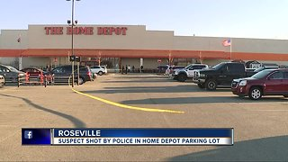 Suspect injured in police-involved shooting at Roseville Home Depot