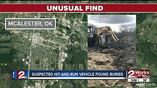 Suspected hit-and-run vehicle found buried - Video