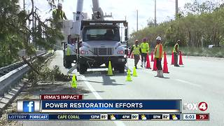 Huge power restoration efforts under way in Southwest Florida - Video