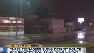 Teens sues Detroit police over prostitution sting - Video