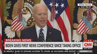 Biden Randomly Starts Yelling in Middle of Press Conference