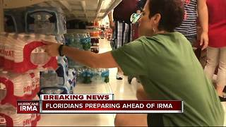 Floridians preparing ahead of Hurricane Irma