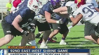 Benefits of East-West Shrine Game at Trop today, Jan. 21, 2017 - Video