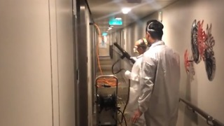 Hallways Onboard Royal Caribbean Cruise Sprayed Down After Gastro Outbreak - Video