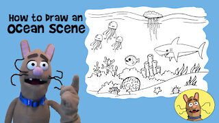 How to Draw an Ocean Scene