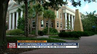Anti-confederate monument rally in Bradenton - Video