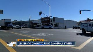 Leaders commit to fixing San Diego's dangerous streets - Video