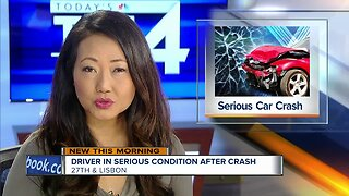 Driver in serious condition after car crash