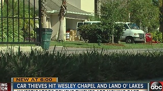 Car thieves hit Wesley Chapel and Land O'Lakes - Video