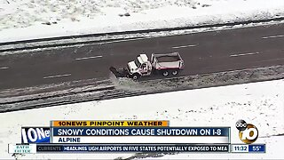 Interstate 8 closed during storm