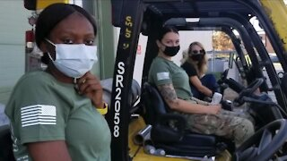 National Guardswomen turn duty at Akron Canton Regional Foodbank into full-time jobs