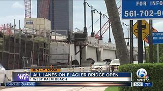 Flagler Memorial Bridge reopened in West Palm Beach - Video