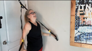 Working with Samantha on TRX