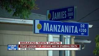 Police looking for Hispanic man in City Heights stabbing death - Video