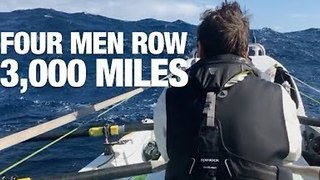 Four Guys Travel 3,000 Miles Across the Atlantic in a Row Boat - Video