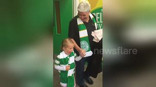 Young Celtic fan has priceless reaction to first-ever match - Video