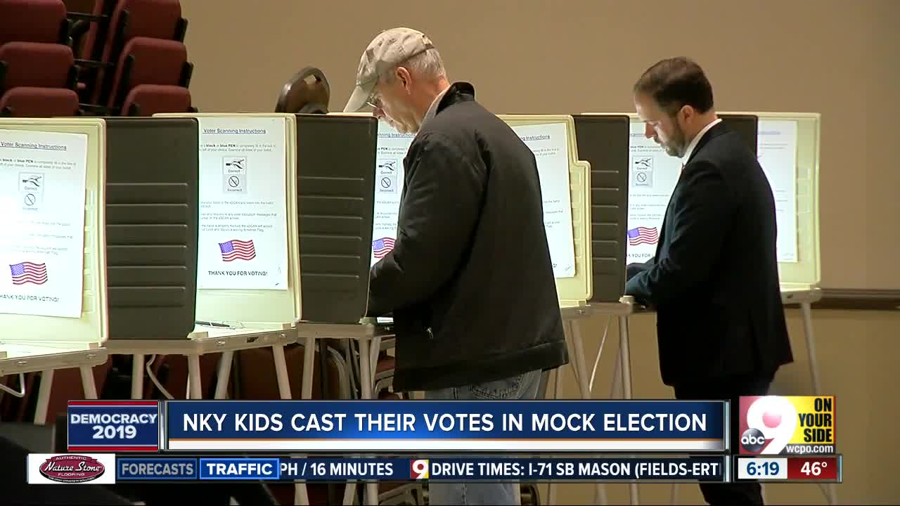 NKY kids cast their vote in mock election