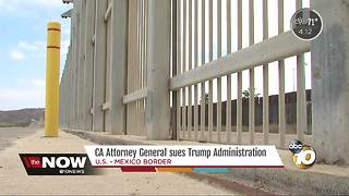 CA Attorney General sues Trump Administration - Video