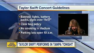 Taylor Swift performs in Tampa tonight