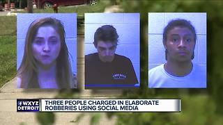 3 people charged in elaborate robberies using social media - Video